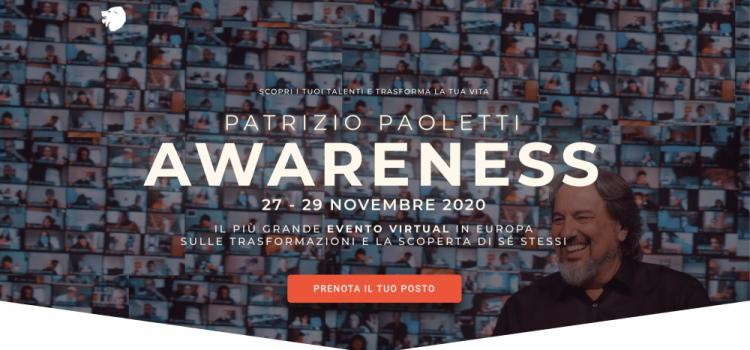 Patrizio Paoletti: Awareness | 27-29 Novembre 2020