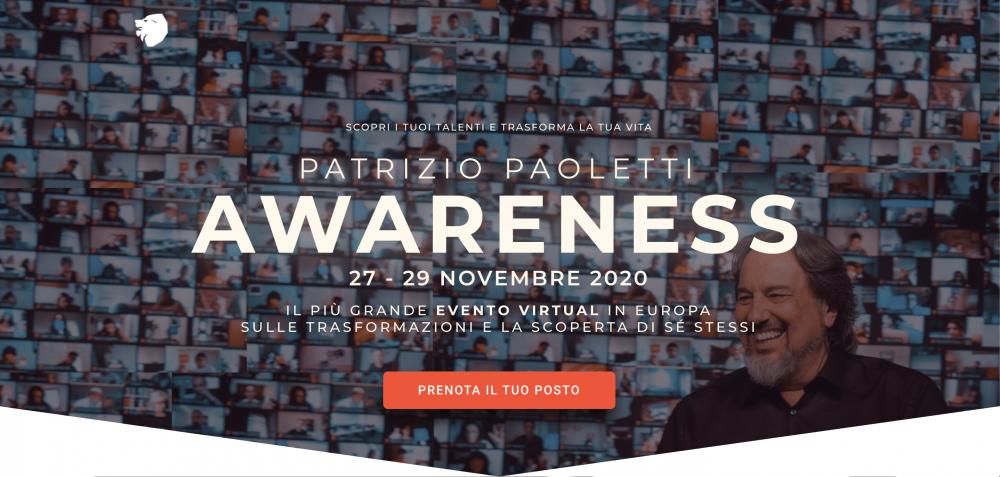 Patrizio Paoletti: Awareness   27-29 Novembre 2020