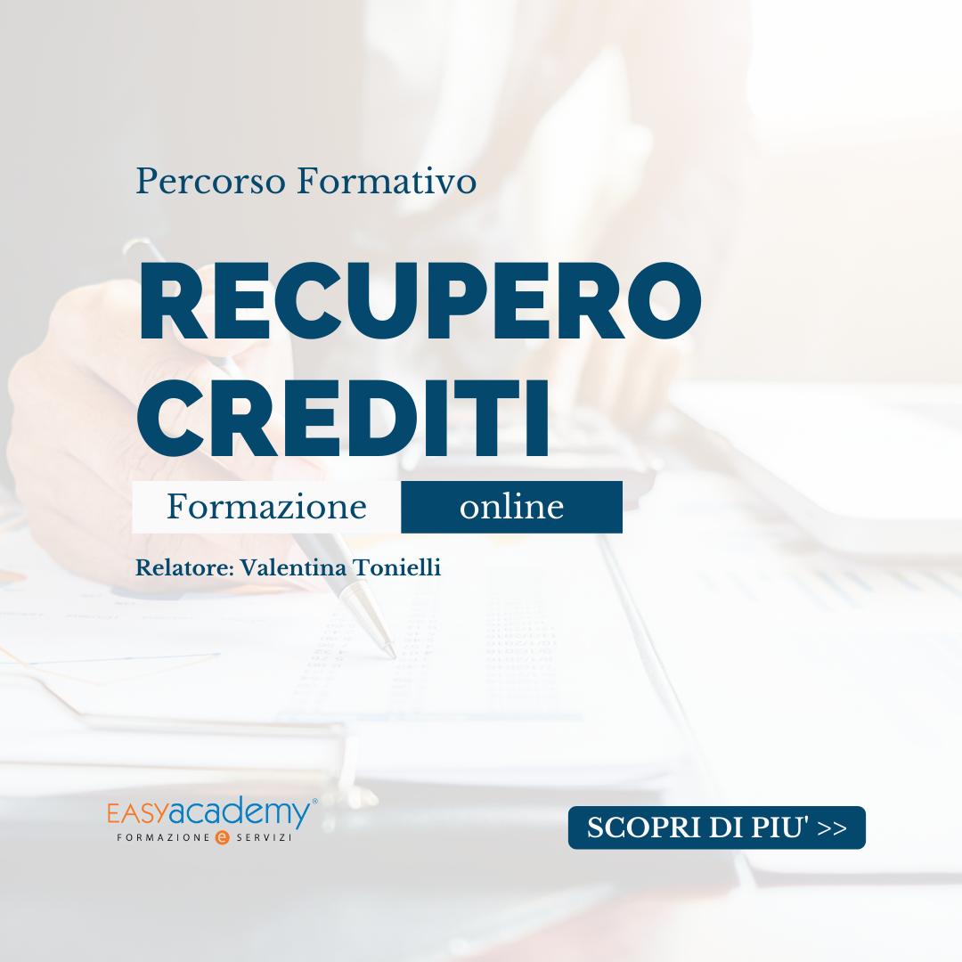 Recupero crediti | CORSO ONLINE