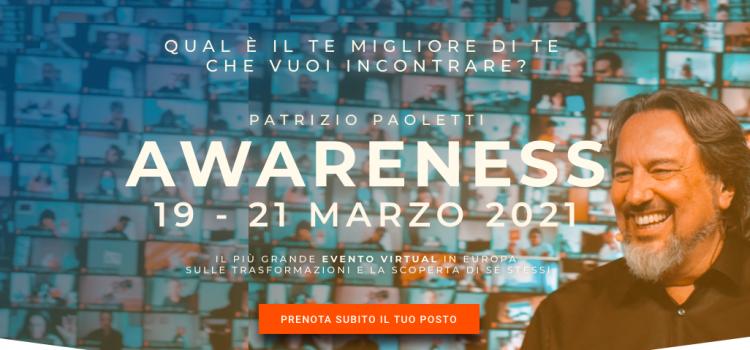 Patrizio Paoletti: Awareness 2021 | 19-21 Marzo