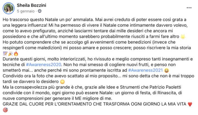 Testimonial Patrizio Paoletti Awareness